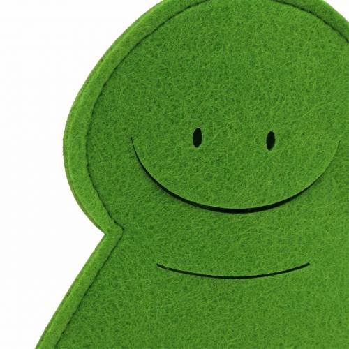 Grodprins filt trägrön 35 cm x 46 cm fönsterdekoration
