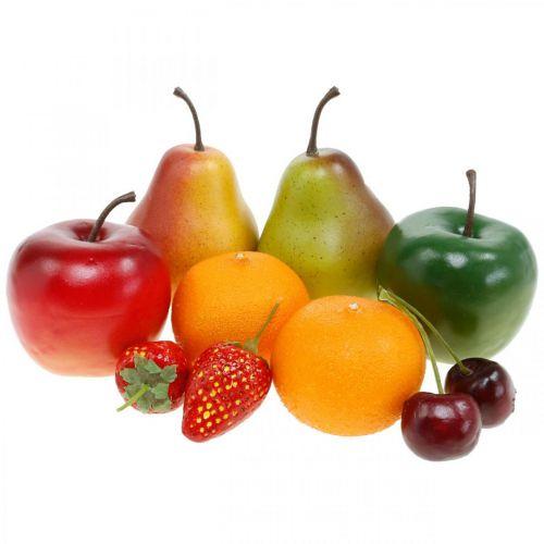 Dekorativa frukter, konstgjord fruktblandning L5–8,5cm