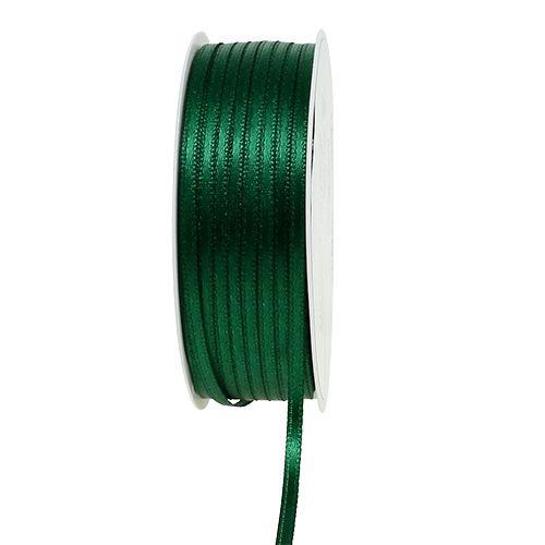 Present- och dekorationsband 3mm x 50m mörkgrön