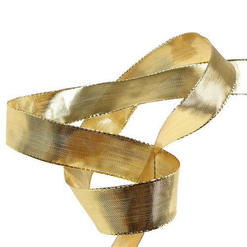 Guld presentband med trådkanten 25m