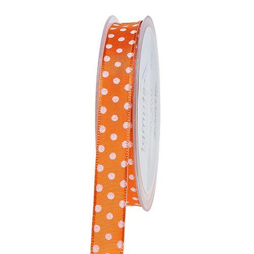 Presentband med prickar orange 15mm 20m