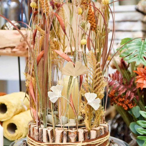 Ginkgo gren metall dekorationsplugg Ginkgo Golden 14 × 28cm 6st