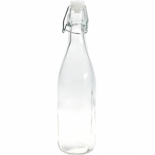 Dekorativ flaska, svängbar flaska, glasvas för fyllning, ljushållare