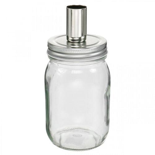 Dekorativt glas med ljusstake ljusdekoration Ø8cm H17.5cm 4st