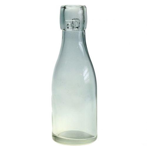 Glasflaskvas Ø5cm H16cm grön / grå 6st