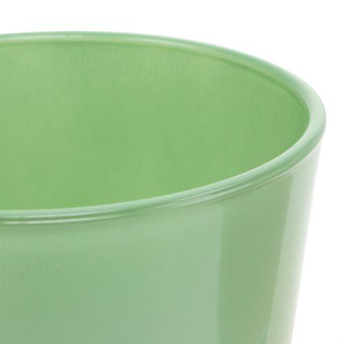 Glaskanna Ø10cm H8.5cm mintgrön