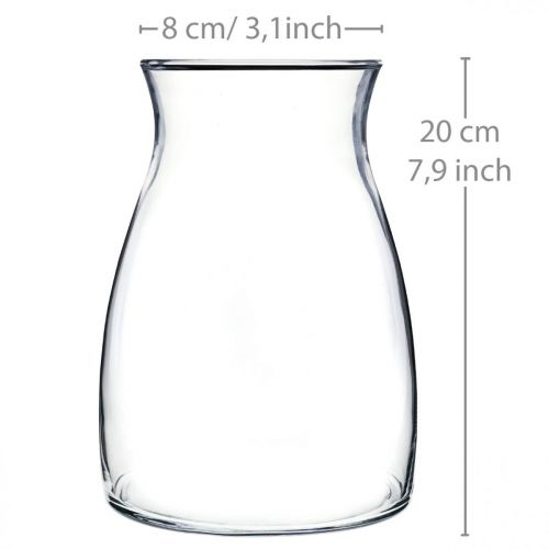 Dekorativ glasvas klar blommavasglas Ø11cm H20cm
