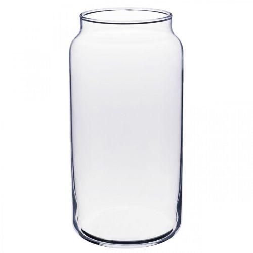 Blomstervas glas klart glas vas bordsdekoration Ø8cm H20cm
