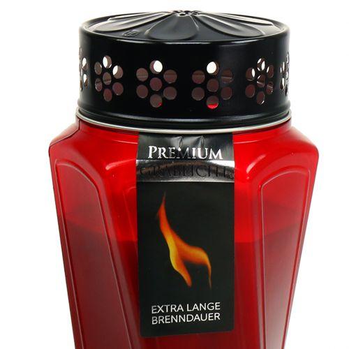 Gravljus plast tvinnad röd Ø11cm H25cm