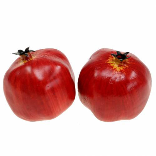 Dekorativ granatäpple röd 9,5 cm 4st