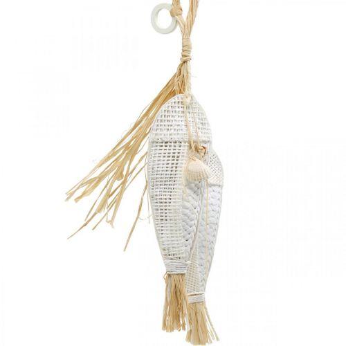 Fisk att hänga, maritim, dekorationshängare med fisk, tropiska festdekorationer