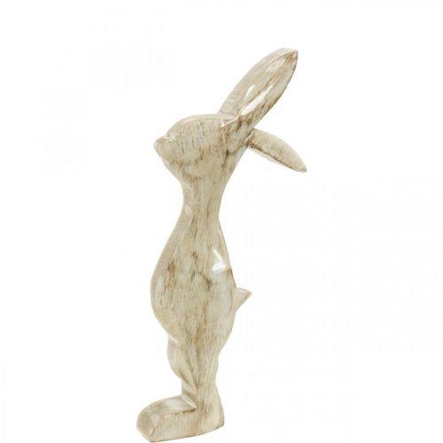 Träkanin, vår, påskdekoration, dekorativ kanin H25cm