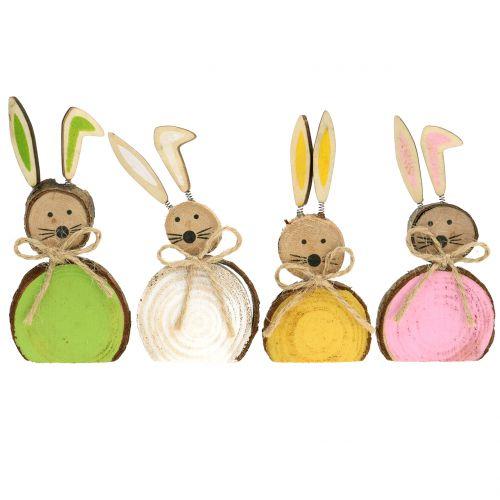 Dekorativa kaninträ blandade färger 10 cm 8st