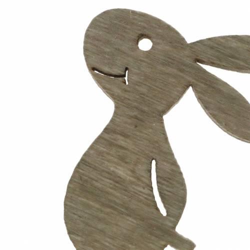 Spritt kaninträvitt, kräm, brunt blandat 4 cm 72st