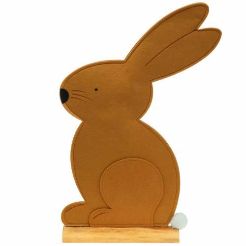Dekorativ kaninsamling kände ljusbrun 40cm x 7cm H61cm påskdekoration, skyltfönster