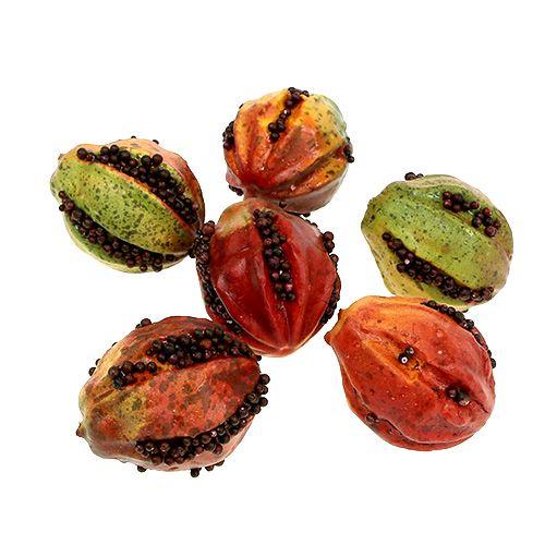 Höstfrukt 3,5 cm röd, brun 24st