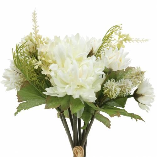 Chrysanthemum bukett mix vit 35cm
