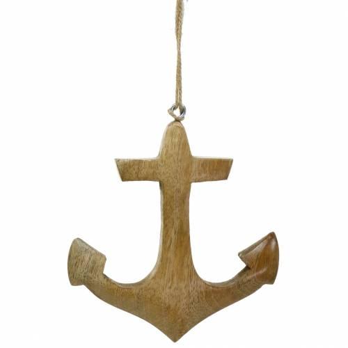 Dekorativt ankarträ hänge natur H14.6cm