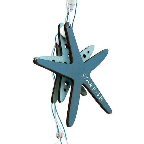 Trähängare sjöstjärna blå 36cm 4st