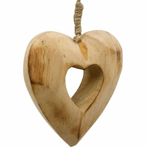 Dekorativt hängande hjärta, trähjärta, Alla hjärtans dag, trähänge, bröllopsdekoration 6st