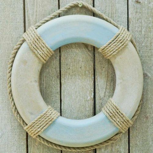 Simring i trä, maritim dekoration, livboj Ø31cm