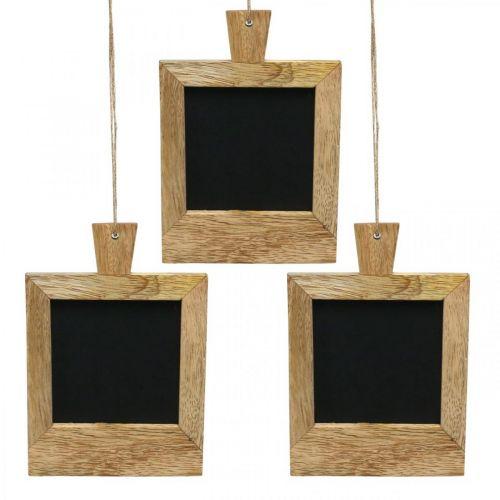 Mini deco board för att hänga upp naturen 9 × 13cm 3st