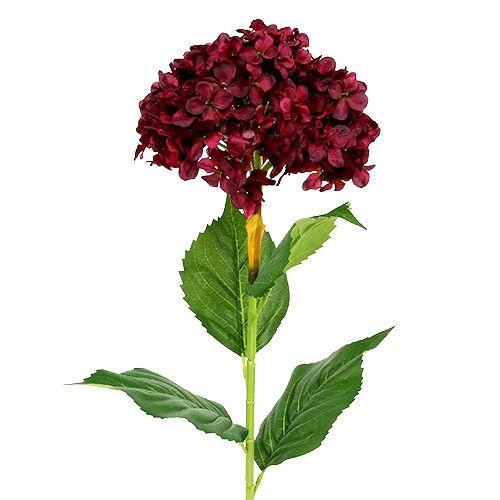 Konstgjord hortensia mörkröd 80cm 1 st