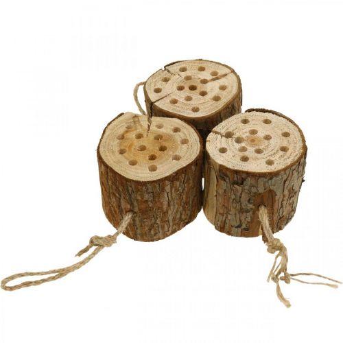 Insekthotell trä H65cm häckande hjälpmedel för att lägga på
