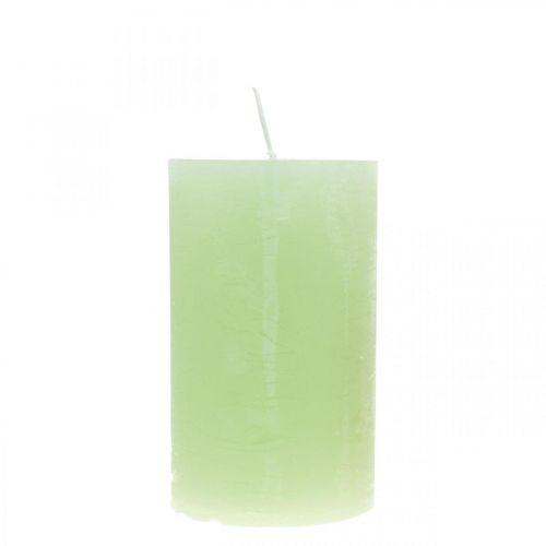 Pelarljus färgade ljusgröna 60 × 100mm 4st
