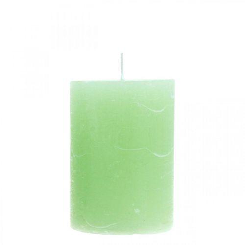 Pelarljus färgade ljusgröna 70 × 100mm 4st