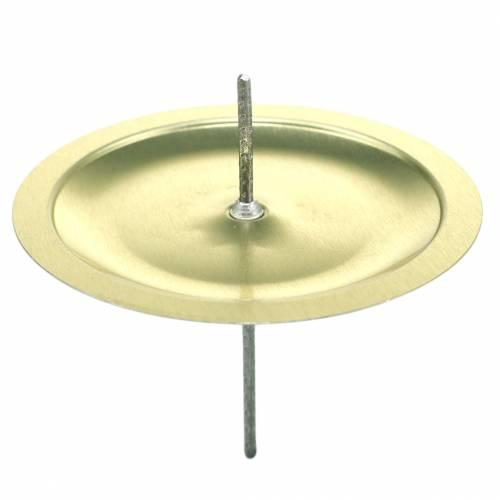 Ljusstake med taggguld Ø6cm 36st