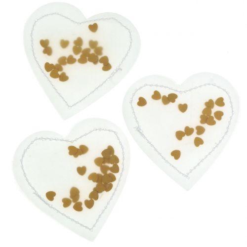 Confetti Heart Gold 5cm 24st