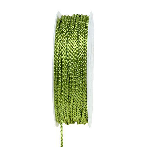 Grön sladd 2mm 50m