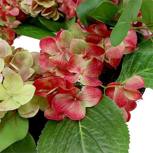 Krans hortensior Ø60cm grön, rosa 1p