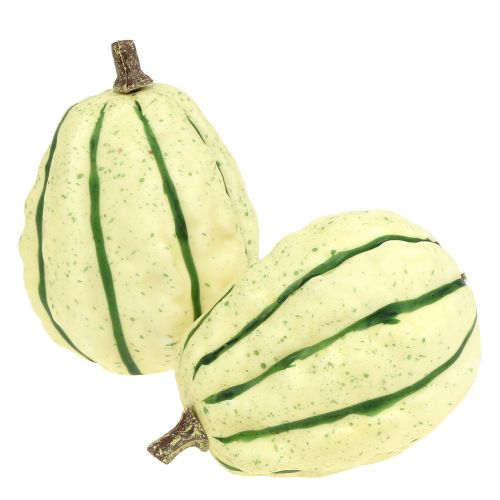 Dekorativ pumpakräm, grön 11cm 6st