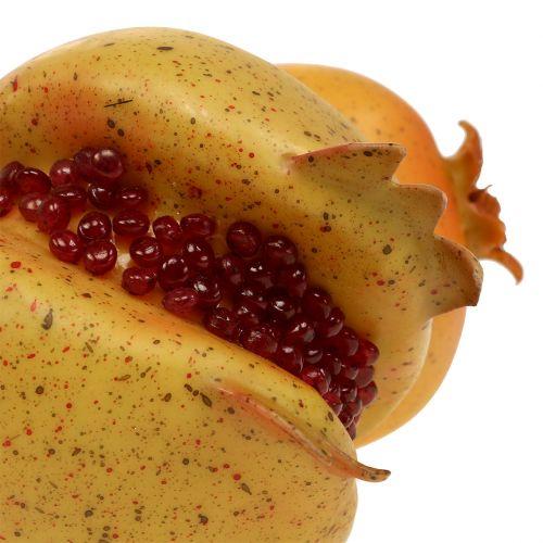 Konstgjord frukt granatäpple med frön Ø6cm - Ø7cm L18cm