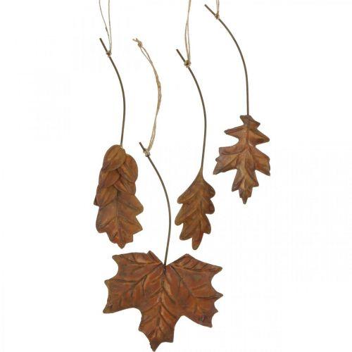 Lämnar metall för att hänga rostbruna höstlöv 7,5-10 cm 4st