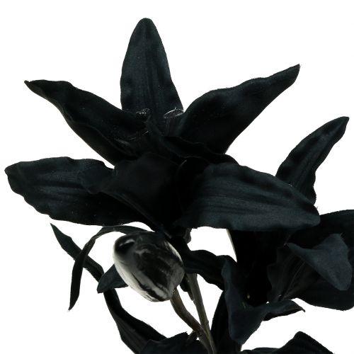 Konstgjord blomma lilja svart 84cm