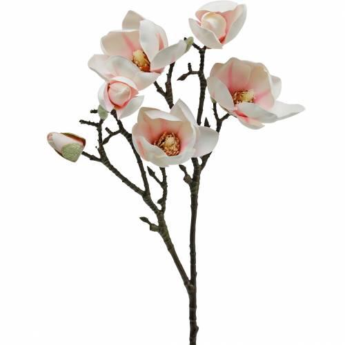 Magnolia gren rosa konstgjorda magnolia siden blommor