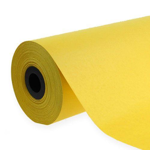 Manschettpapper 37,5 cm 100m gult