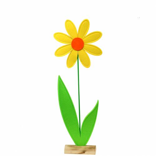 Filtblomma gul, orange, grön Ø25,5cm x H68cm fönsterförband