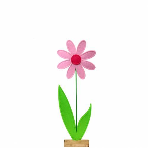 Filtblomma rosa, rosa, grön Ø18 H50cm