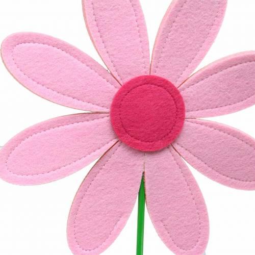 Filtblomma rosa, rosa, grön Ø25,5cm x H67cm