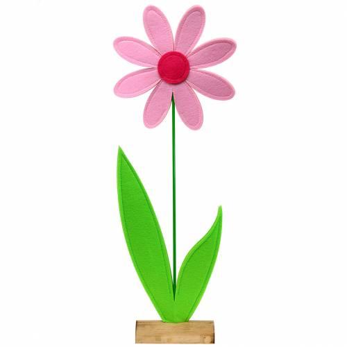 Gigantisk filtblommagrön, rosa, rosa Ø40cm H93cm fönsterdekoration