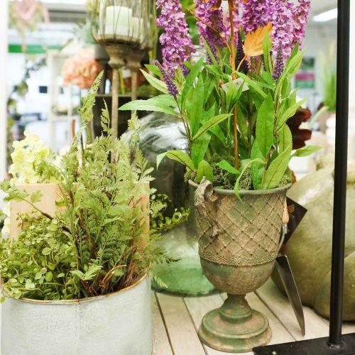 Metallbägare för plantering, bägare med handtag, planteringsplatta Ø25cm H43cm