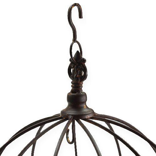 Metallkrona för hängande rostbrun Ø31cm H31cm