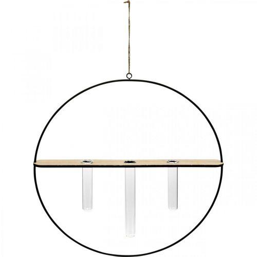 Dekorativ ring att hänga med glasögon metall svart Ø35cm