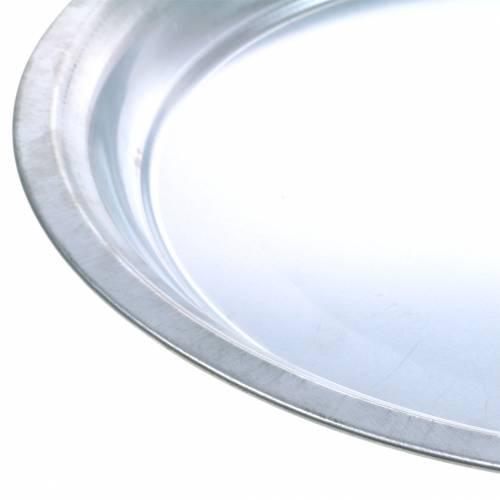 Metallplatta grundläggande silverblank Ø45,5cm H4cm