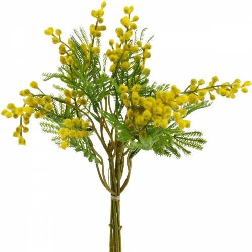 Mimosa gul konstgjord växtbunt 39cm
