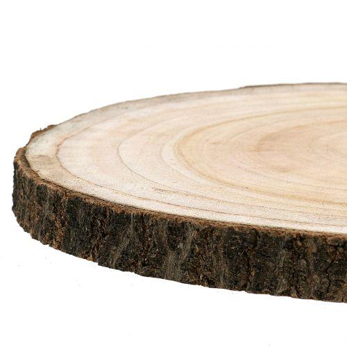 Trädskiva blå klocka träd natur Ø30-35cm 1p